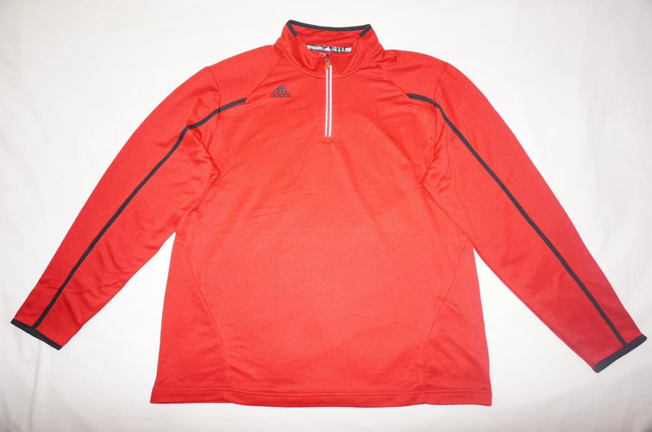 adidas mens climalite coaches 1 4 zip performance pullover. Black Bedroom Furniture Sets. Home Design Ideas