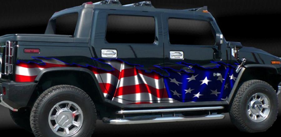 American Flag Auto Vinyl Graphic Car Truck Graphics Suv Ebay