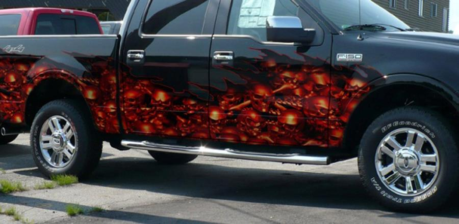 Truck Decals - Skull decals for trucks