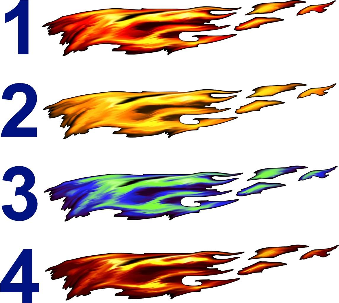 Full Color Flames Graphics Car Truck Decals Ebay