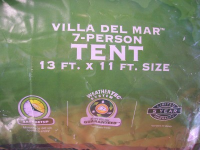 Coleman Villa Del Mar 7 Person Tent & Coleman Villa Del Mar 7 Person Tent on PopScreen