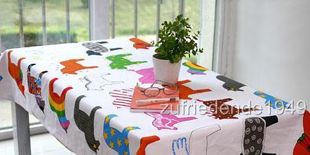 tischdecke aus ikea stoff pferde 180 x 145 cm neuwertig ebay. Black Bedroom Furniture Sets. Home Design Ideas