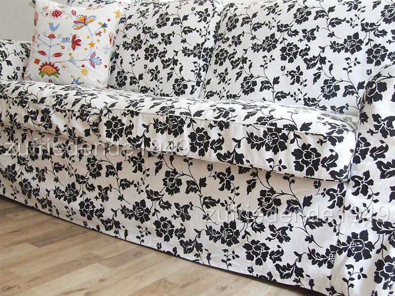 sofabezug ikea ektorp 2er schlafsofa blom ebay. Black Bedroom Furniture Sets. Home Design Ideas