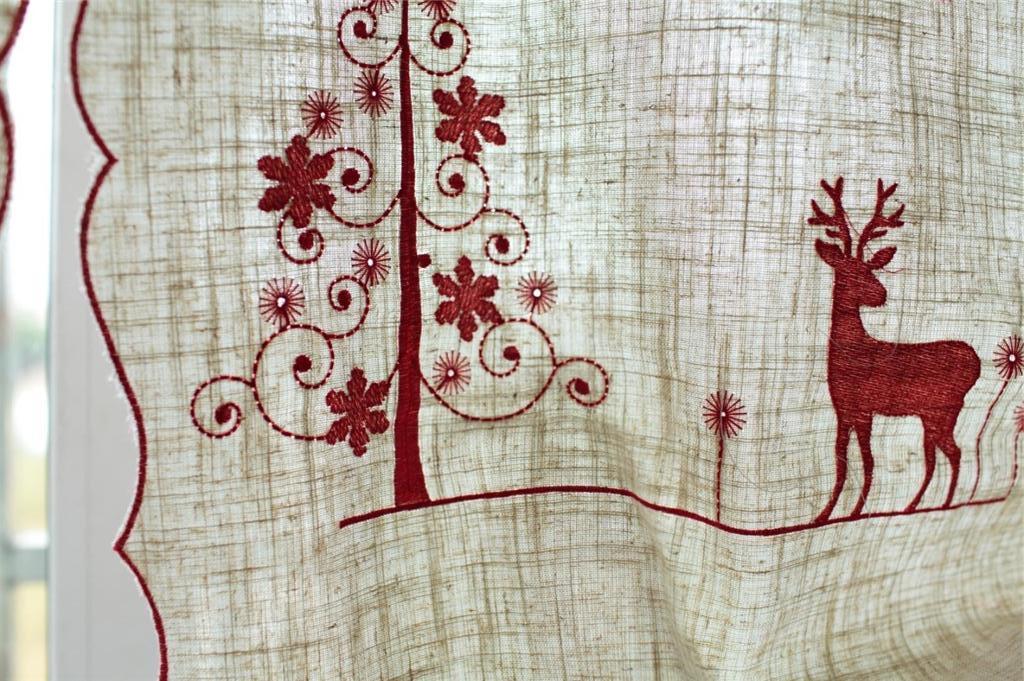 Gardinen vorh nge bergardinen scheibengardine 83 b x260 l for Scheibengardine weihnachten