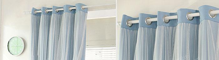 shabby chic romantik 1 paar sen gardine 280 x 240 cm. Black Bedroom Furniture Sets. Home Design Ideas