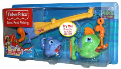 Fisher price reel feel fishing rod fish playset new ebay for Fisher price fishing pole
