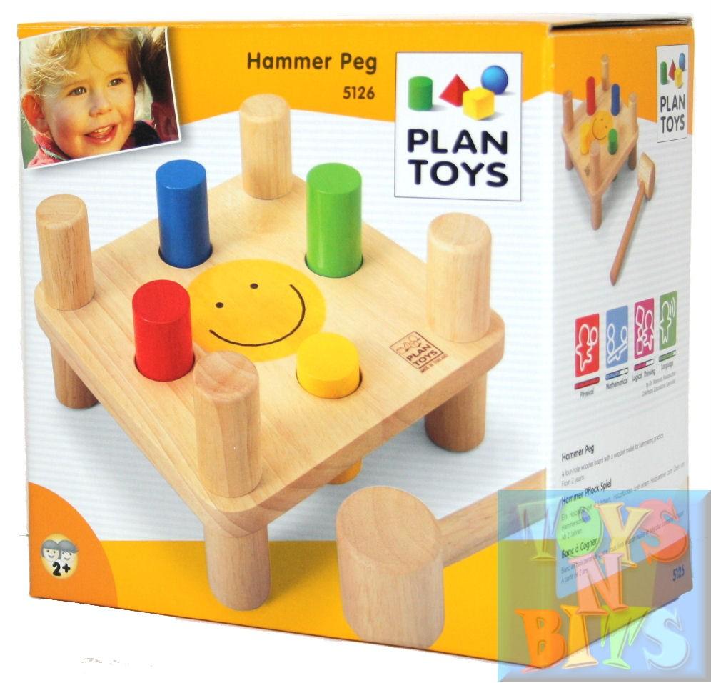 Baby Peg Toys : Plan toys hammer peg wooden play set infant toy ebay