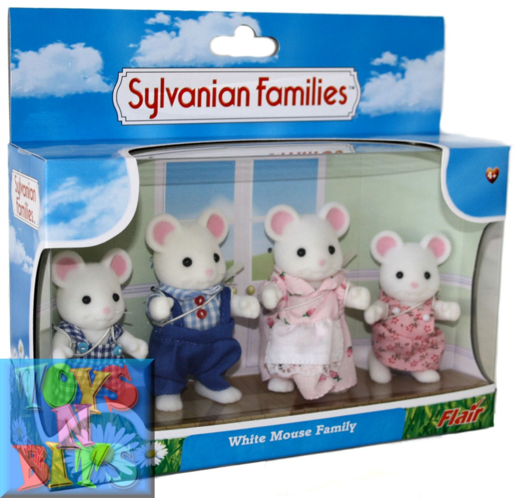 Sylvanian-Families-WHITE-MOUSE-Family-4-Figures