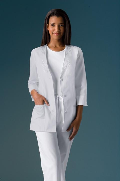 NWT-Cherokee-3-4-Sleeve-Women-039-s-Scrub-Jacket-1491-S-XL