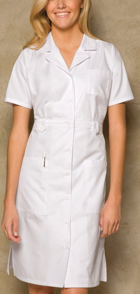 White Professional Nursing Uniform 50