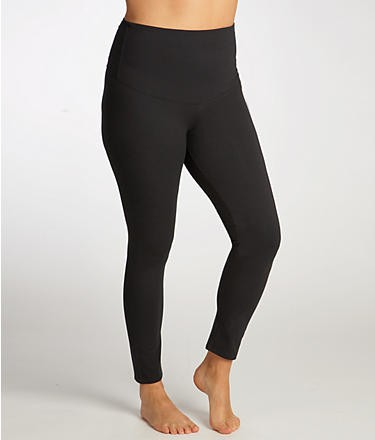 NEW-Hanes-B478-Shaping-Firm-Control-Tummy-Toning-BLACK-Legging-M-2XL