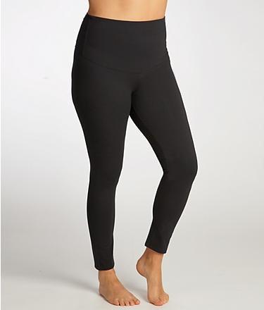 NEW-Hanes-B478-Shaping-Firm-Control-Tummy-Toning-BLACK-Legging-M-2XL