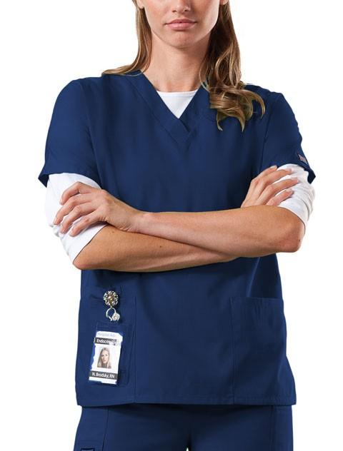 NEW-Cherokee-Work-Wear-4700-Womens-NAVY-BLUE-V-Neck-Scrub-Top-XXS-5XL