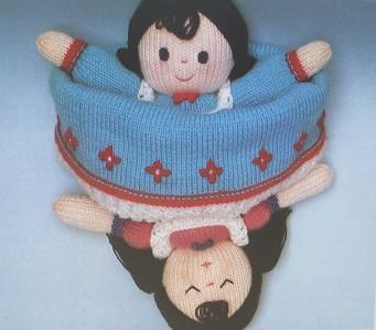 Topsy-Turvy Daytime/Bedtime toy doll knitting pattern eBay
