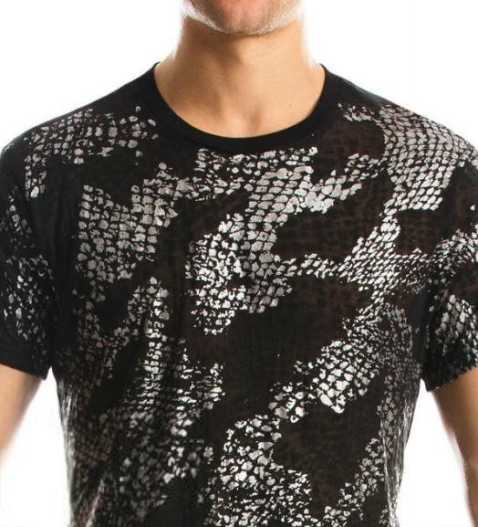 Armani-Exchange-Snake-T-shirt-Black-NWT