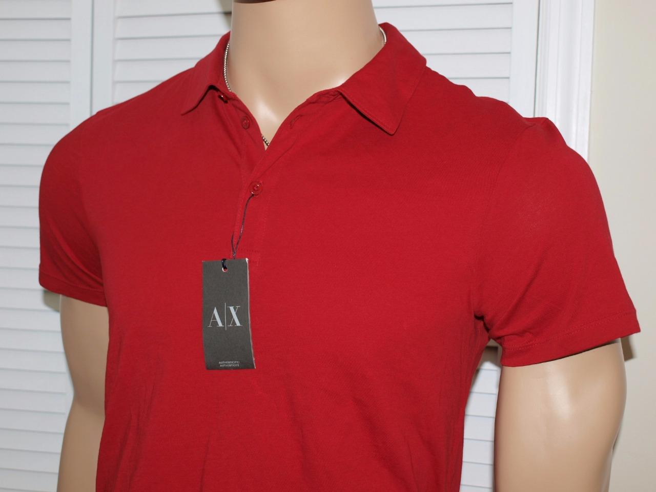 Armani Exchange Pima Cotton Polo Shirt Ruby Red Nwt Ebay