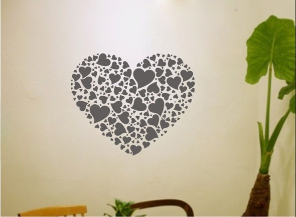 Colorful Heart print Decor Mural Art Wall Sticker Decal Y409 (various