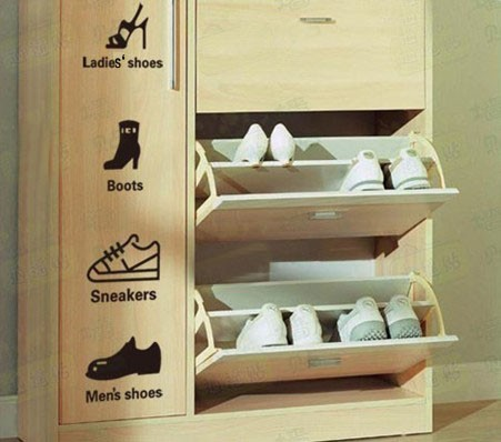 Shoe Cabinet Label Decor Mural Art Wall Sticker Decal Y008 (various