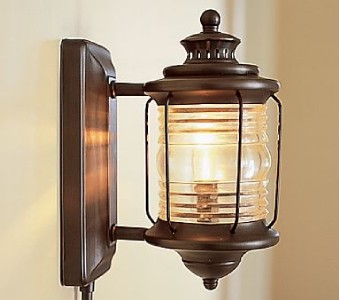 Pottery Barn Depot Wall mount Sconce plug in light lamp eBay
