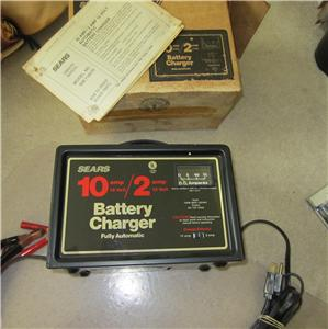 battery charger  sears  craftsman  10 amp  2amp automatic  12v sears 10/2 manual battery charger sears manual battery charger for 12 volt