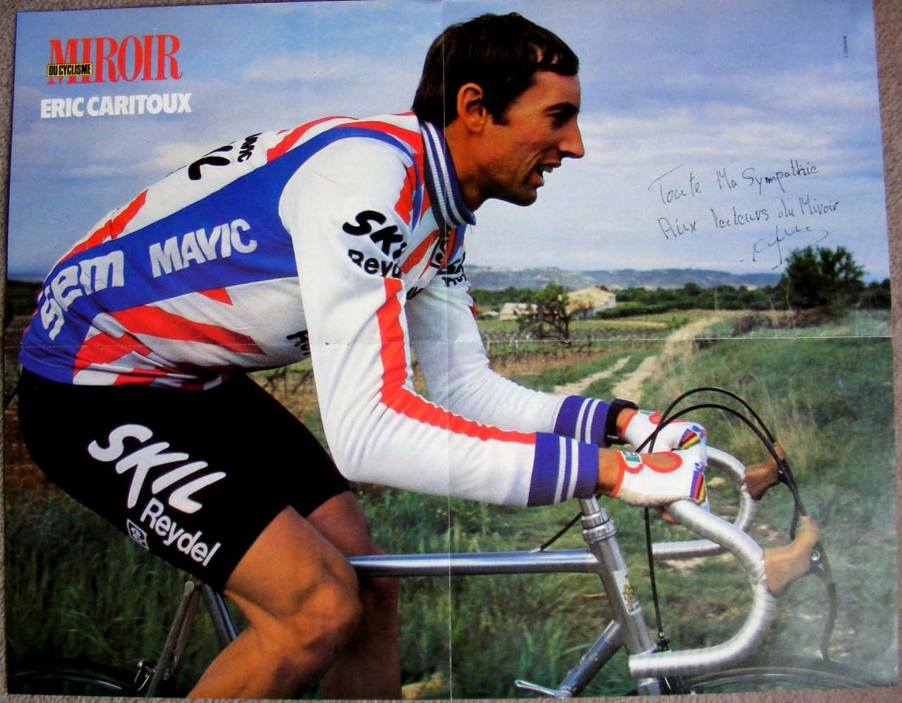 Cycling miroir du cyclisme vintage poster eric caritoux for Miroir du cyclisme