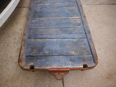 Industrial Age Warehouse Cart Towable Heavy Duty Coffee Table Cast