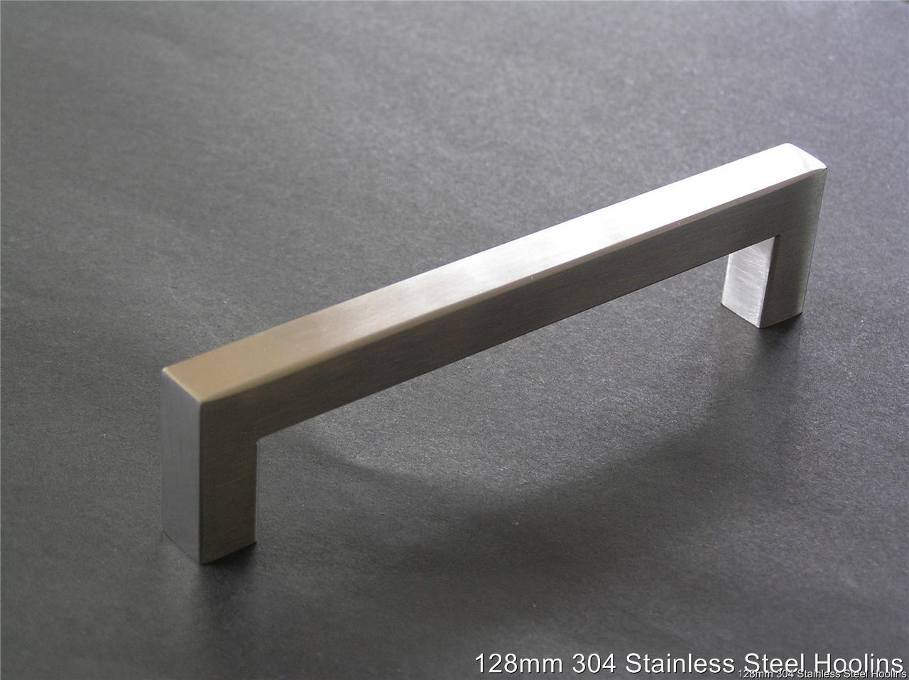 details about kitchen bathroom cabinet handles 128x12mm stainless