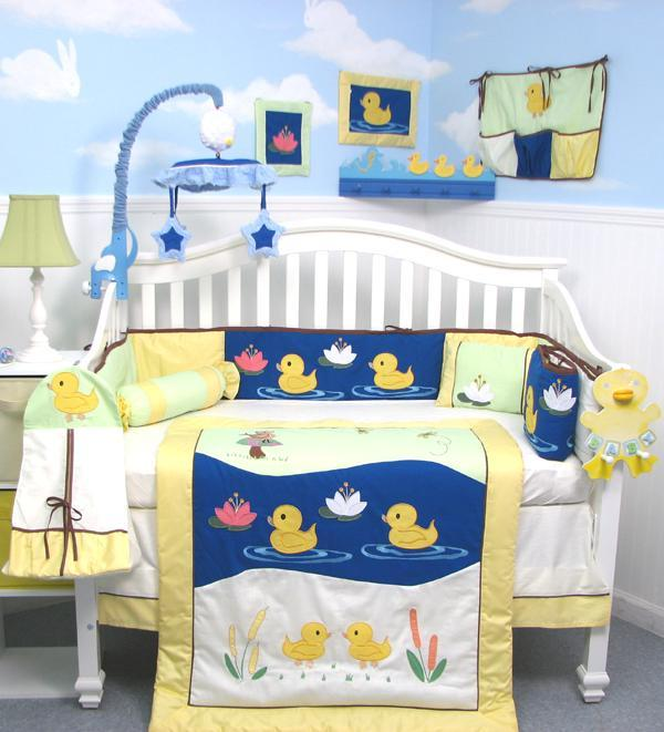 Soho Designs Quack Quack Ducks Ranch Baby Crib Nursery Bedding Set 14 pcs included Diaper Bag with Changing Pad, Accessory Case & Bottle Case at Sears.com