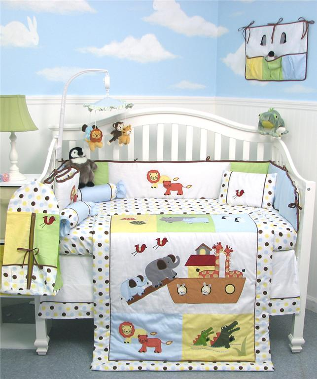 Soho Designs Noah Ark Baby Crib Nursery Bedding Set 14 pcs included Diaper Bag with Changing Pad, Accessory Case & Bottle Case at Sears.com