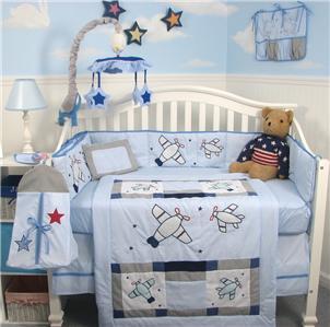 Soho Airplane Baby Crib Nursery Bedding Set 10pcs Ebay