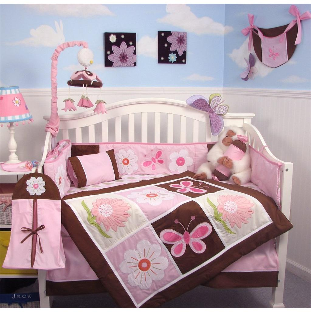 Soho Designs Sweetie Garden Baby Crib Nursery Bedding Set 14 pcs included Diaper Bag with Changing Pad, Accessory Case & Bottle Case at Sears.com