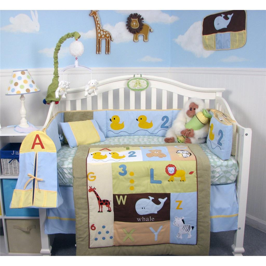 Soho Designs SoHo Casey's ABC &123 Baby Crib Nursery Bedding Set 14 pcs included Diaper Bag with Changing Pad, Accessory Case & Bottle Case at Sears.com