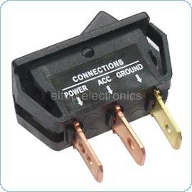 12V Rocker Switch with Red LED