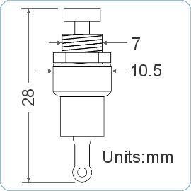 Push-Button Switch - Dimensions