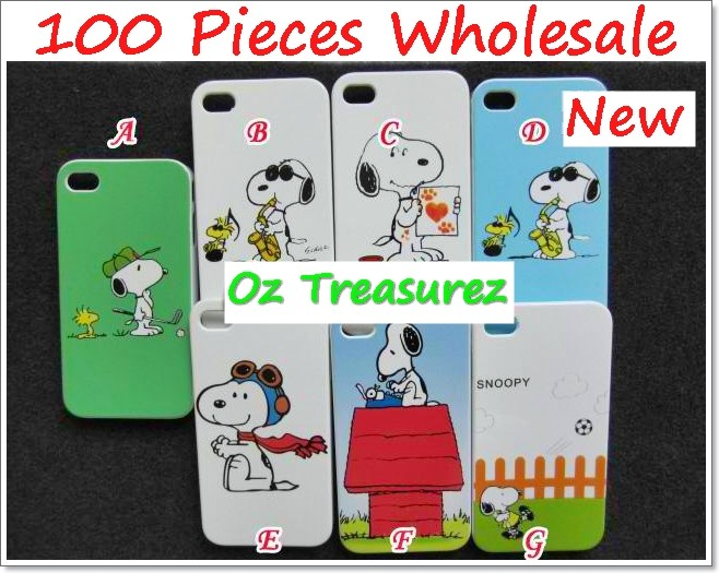 100-WHOLESALE-BULK-LOT-SNOOPY-IPHONE-COVER-HARD-CASE-DOG-CARTOON-4G-HOT-SELLING