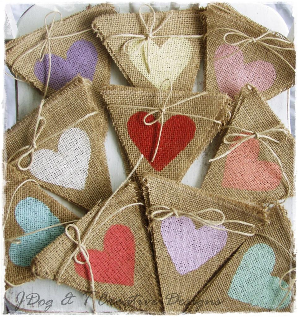 how to make a stuffed burlap heart