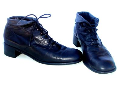 Vtg Lace-Up GRANNY LEATHER Ankle BOOTS Blk Pixie 11/41 - eBay (item 170310846252 end time Mar-19-09 19:40:03 PDT)