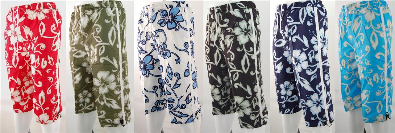 907-New-Mens-Floral-Print-Long-Beach-Surf-Board-Swim-Shorts-Sizes-30-36