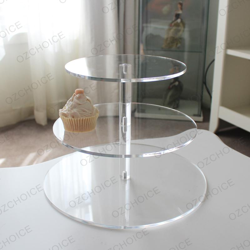 3 Tier Cupcake Stand Clear Hard Acrylic For Wedding Or