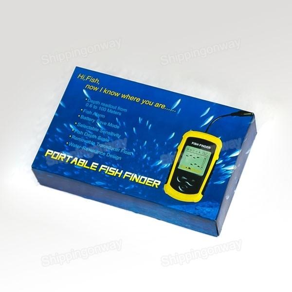 New 100m portable sonar sensor water depth ice fish finder for Portable fish finder ice fishing