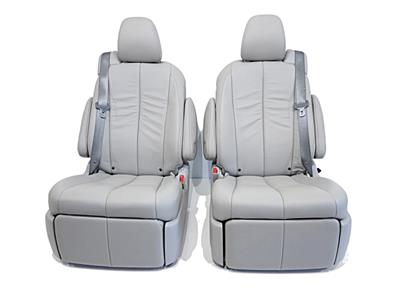 Replacement Toyota Sienna Second Row Grey Leather Recliner Seats