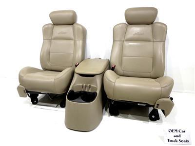 ford f 150 f150 oem leather bucket seats 1997 1998 1999. Black Bedroom Furniture Sets. Home Design Ideas