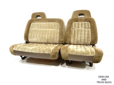 Replacement Gm C K Oem Front 60 40 Tan Cloth Seats Chevy