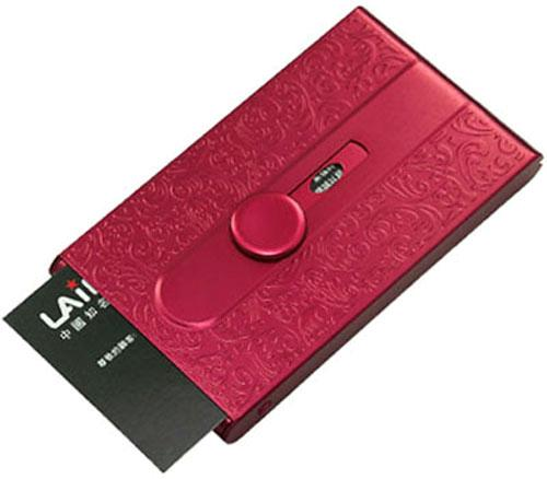 Automatic sliding embossed metal business women id credit for Automatic business card dispenser