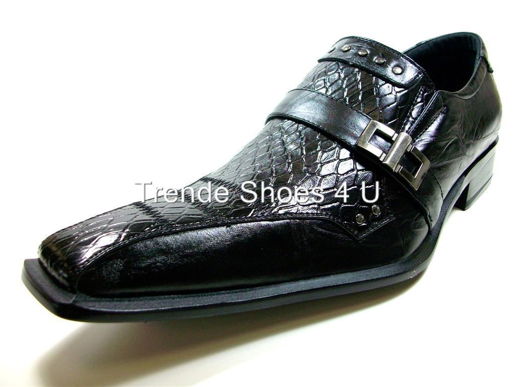 d aldo mens black gator texture dress casual shoes nib ebay