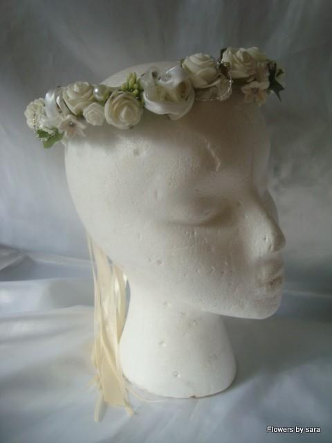 wedding flowers bridesmaid flower girl circlet halo ebay. Black Bedroom Furniture Sets. Home Design Ideas