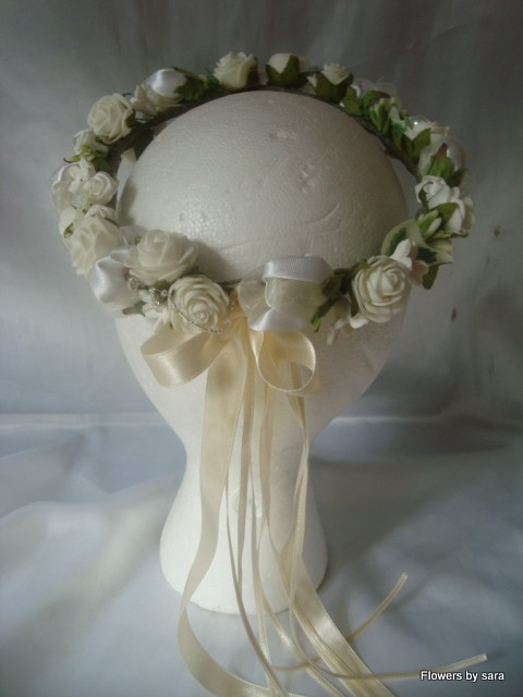 Details About WEDDING FLOWERS Bridesmaid Flower Girl Circlet Halo