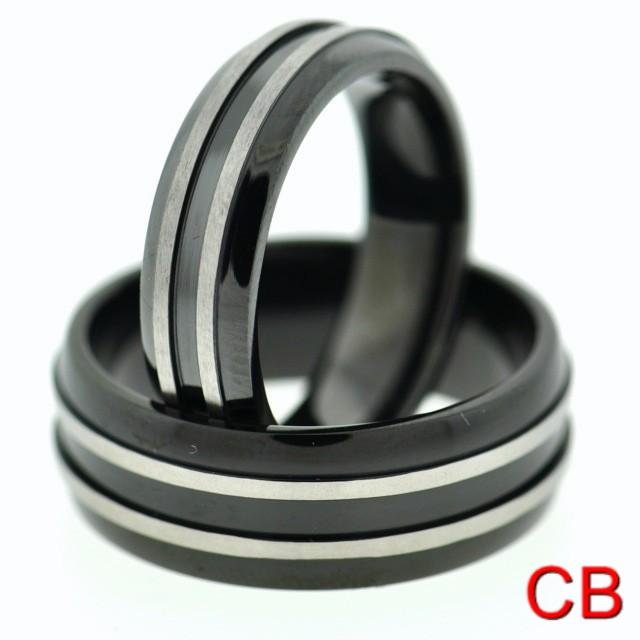 Black Wedding Rings For Him Black Titanium Matching Wedding Bands Promise Rings For Her And Him