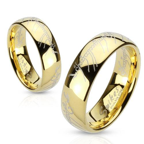 gold matching his and hers promise ring set with lord