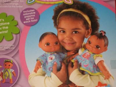 Dora The Explorer Plush Twin Baby Boy & Girl Cuddle & Care Doll